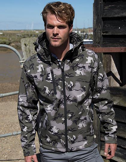 Camo TX Performance Hooded Softshell Jacket